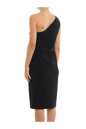 Beaded one-shoulder dress