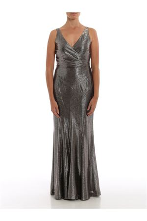 aletheo-sleeveless-evening dress RALPH LAUREN | 11 | 253756525002BLACK/GOLD MLTI/GUNMETAL