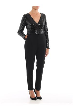 Tuta in cady con top in paillettes RALPH LAUREN | 19 | 253756590001BLACK