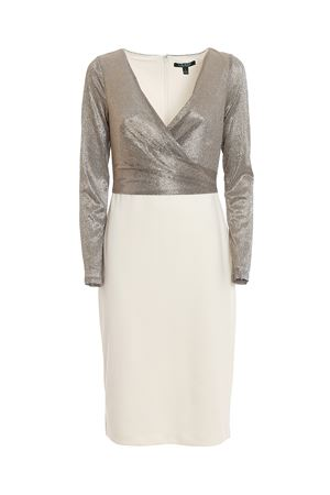 alexie-long sleeve-cocktail dress RALPH LAUREN | 11 | 253768097002WHITE/GOLD MTLC/GNMTL MTLC