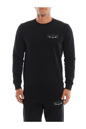 Wings patch black sweatshirt