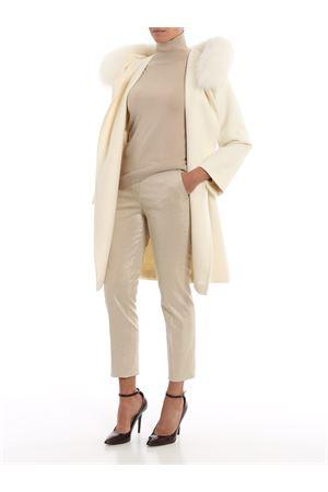 pantalone gabardina co/pl monoelastica in trama luminescente 61360499CILENO001 MAX MARA | 20000005 | 61360499CILENO001