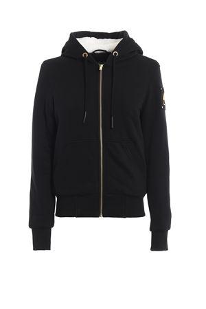 Black slightly padded hoodie style jacket MOOSEKNUCKLE | -276790253 | M39LS601803