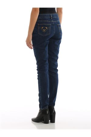 PANTALONE IN DENIM CON RICAMO TEDDY BEAR MOSCHINO | 5032284 | 03045520A1290