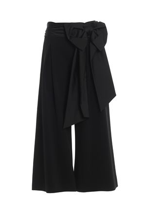 Pantaloni palazzo con maxi fiocco in seta MOSCHINO | 20000005 | 03125424A1555