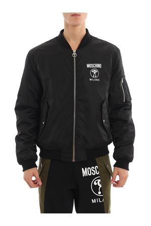Bomber in lana con stampa logo MOSCHINO | 13 | 06165219A1555
