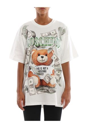 T-shirt con stampa Dollar Teddy Bear MOSCHINO | 8 | 07015440A1002