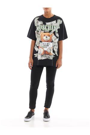 Dollar Teddy Bear print black T-shirt MOSCHINO | 8 | 07015440A1555