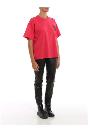 T-shirt fucsia con patch Teddy Label MOSCHINO | 8 | 07045440A0215