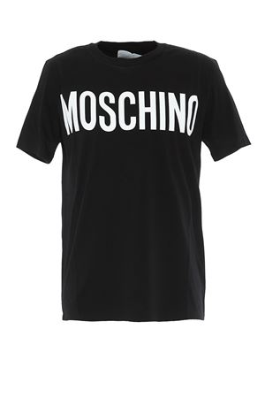 Contrasting logo print black T-shirt MOSCHINO | 8 | 07055240A1555