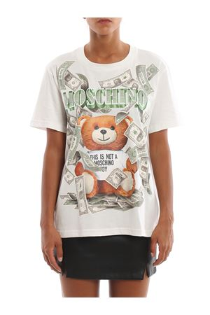 T-shirt con stampa Dollar Teddy Bear MOSCHINO | 8 | 07115440A1002