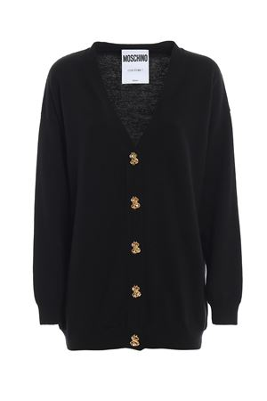 Dollar buttons black cardigan