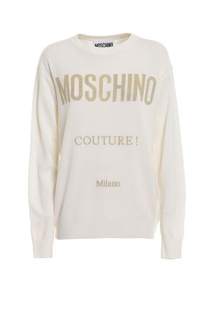 Lurex Moschino Couture! intarsia sweater