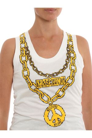 Top con stampa Moschino jewels effetto pixel MOSCHINO | 40 | 12789140A1002
