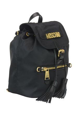 Gold-tone logo fabric backpack MOSCHINO | 10000008 | 76038202B1555