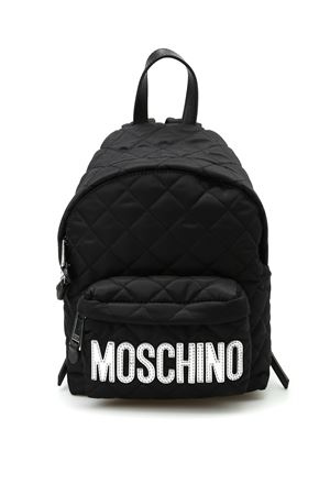 Logo detailed quilted backpack