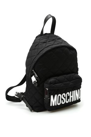Logo detailed quilted backpack MOSCHINO | 10000008 | 76088201B4555