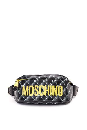Marsupio in pelle stampa Pixel MOSCHINO | 5032271 | 77998051A1555