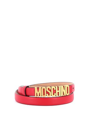 Logo lettering red thin belt MOSCHINO | 22 | 80088001A0116