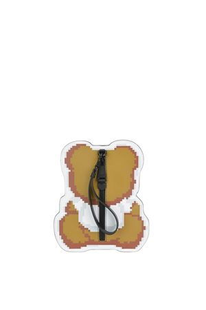 Clutch in pelle con stampa pixel Teddy Bear MOSCHINO | 10000014 | 8499851A1001