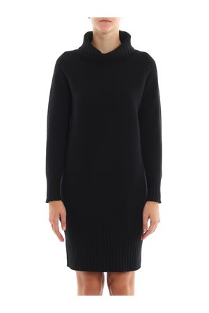 Black wool and cashmere dress