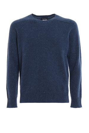 Melange blue cashmere crew neck sweater PAOLO FIORILLO CAPRI | 7 | 2411426802564