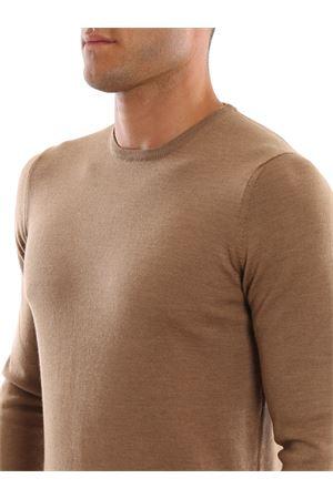 Girocollo color cammello in lana pettinata PAOLO FIORILLO CAPRI | 7 | 5516714290154