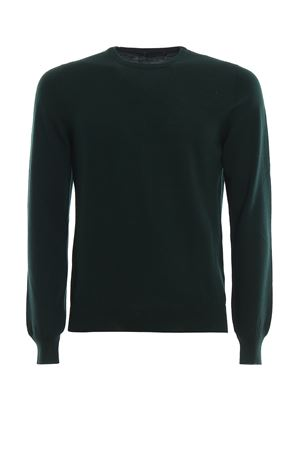 Green combed wool sweater