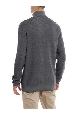 Textured wool turtleneck