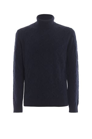 Textured wool blend turtleneck