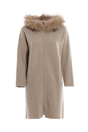 Fur trimmed merino wool coat PAOLO FIORILLO CAPRI | 17 | 85255000986