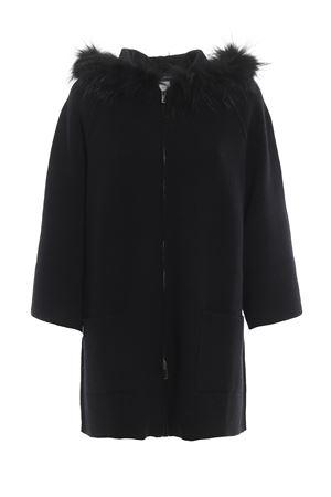 Cappa nera in lana con bordo in pelliccia PAOLO FIORILLO CAPRI | 5032283 | 85259700013