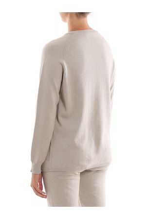Lurex and merino wool crew neck sweater