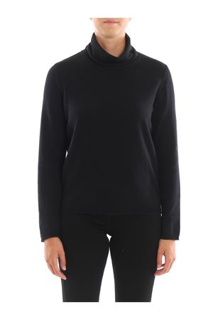 Lurex detailed merino wool turtleneck