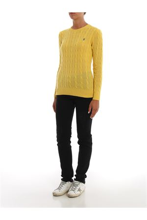 Yellow cable knit merino and cashmere sweater POLO RALPH LAUREN | 7 | 211525764060