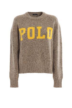 Maglione in misto lana con logo jacquard POLO RALPH LAUREN | 7 | 211752613001TAN DONEGAL/OLYMPIC YELLOW