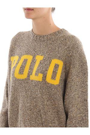 Jacquard logo melange wool blend sweater POLO RALPH LAUREN | 7 | 211752613001TAN DONEGAL/OLYMPIC YELLOW