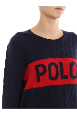 Jacquard logo wool and cashmere sweater