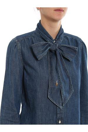 Pussy bow denim shirt POLO RALPH LAUREN | 6 | 211765009001