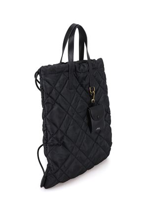 Convertible quilted nylon sack pack