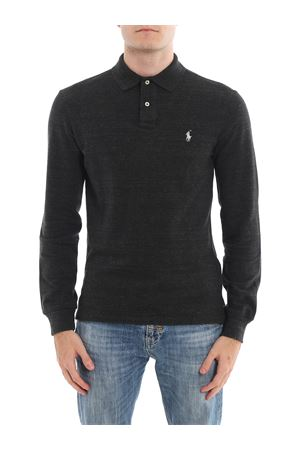 Polo a manica lunga in cotone mélange 710681126009 POLO RALPH LAUREN | 7 | 710681126009