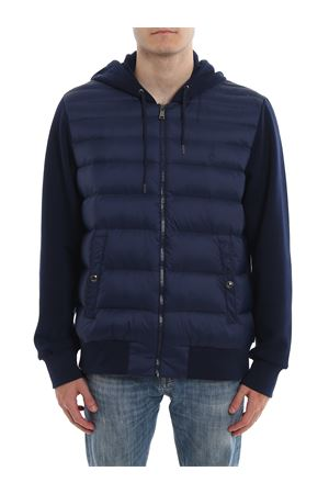 Padded quilted front hooded jacket