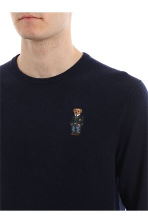 Polo Bear chest embroidery wool sweater