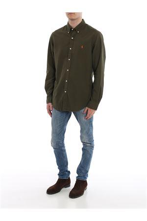 Green button-down cotton shirt POLO RALPH LAUREN | 8 | 710767447001