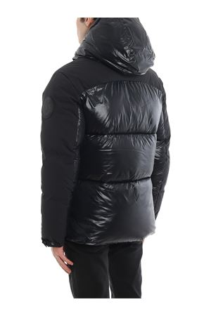 Maxi logo patch water-resistant puffer jacket
