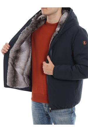 Eco friendly fur lined padded jacket
