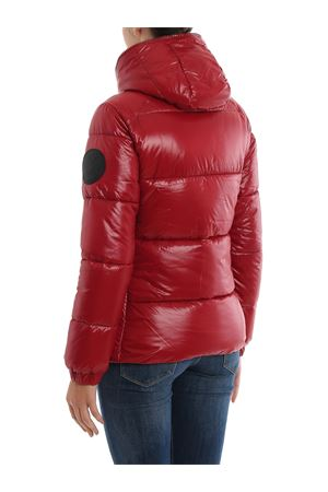 Maxi logo patch puffer jacket