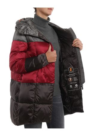 Two-tone hooded padded coat