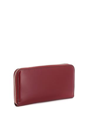 Double T leather wallet