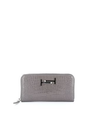 Double T croco print leather wallet TOD